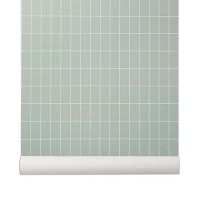 tapet-grid-dusty-green-ferm-living