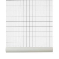 tapet-grid-white-ferm-living